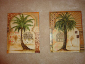 Tuscan Palm prints by J. Hawkins (set of 2)