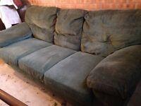 FREE green 3 seater sofa