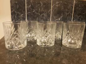 6 Whisky Glasses