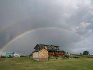 Log Home on 3.69 acre's for sale south of High River Alberta