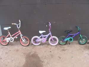"3 KID'S BIKES THAT ""NEED-NOTHING"" READY TO RIDE. [FIRM]"