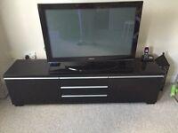 IKEA Besta Burs TV bench, high gloss black