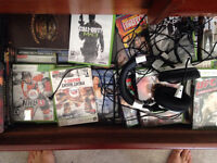 Xbox 360 W/ Cables 3 Games and Turtle Beach X11'S