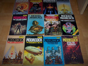 12 VINTAGE Michael MOORCOCK softcover books