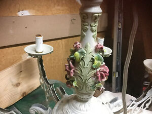 Porcelain chandelier 8 arm antique Kitchener / Waterloo Kitchener Area image 3