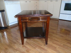 1 wooden end table