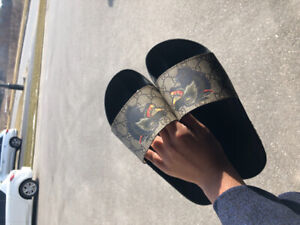 Authentic Gucci Slides - Wolf