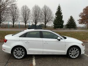AUDI A3 2.0T TECHNIK QUATTRO 2016 (White) Lease Takeover