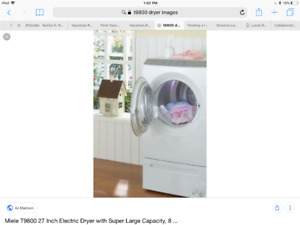 Miele T9800 Dryer with Pedestal Drawer
