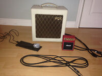 VOX AC4TV, Marshall mini-amp, iRig microphone and 1 guitar cable
