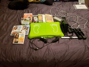Wii Console with Balance Board and games