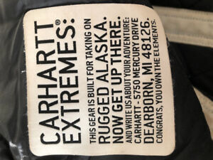 Carhartt 32x30 extremes insulated water proof bib coveralls$80