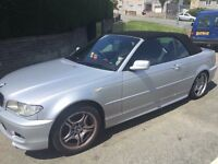 BMW 3 serious convertible 2l petrol 2005