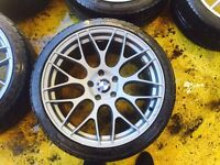 """19"""" BMW STAGGERED ALLOY WHEELS 3 SERIES 5 SERIES 7 SERIES SET OF 4"""