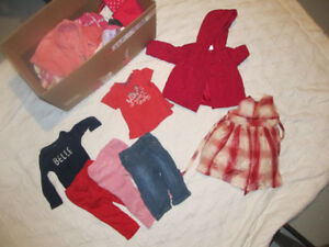 Baby girl clothes, 12M and 12-18M, ~42pcs for 30$