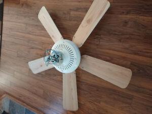 Ceiling fan monte carlo 5 blade reversible white/ birch