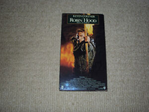 ROBIN HOOD PRINCE OF THIEVES, VHS MOVIE, EXCELLENT CONDITION