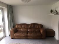 DFS 3 seater sofa and storage foot stool. FREE IF COLLECTED THIS WEEKEND!!!