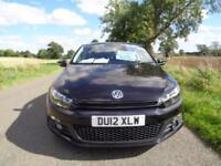 2012/12 VOLKSWAGEN SCIROCCO 2.0 TDI BLUEMOTION TECH GT 3DR BLACK - ONE OWNER