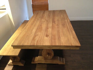 Rustic Table + Bench