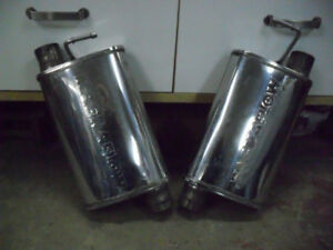 """mufflers stainless magnaflow 2.5"""" in out d'un mustang cobra 1996"""