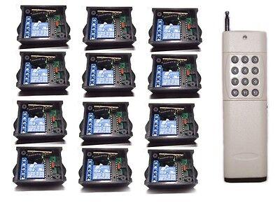 DIY RF 12x1CH way Remote Control Switch Relay on/off Wireless Light led DC9V/12V