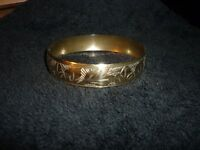 ETCHED INDIAN BRASS BANGLE