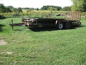 16 ft.tandem axle trailer