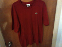 LACOSTE(SPORT EDITION) men red t-shirt, size 4(LARGE or XL)