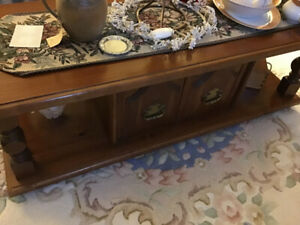 1 coffee table and 2 end tables (wooden pine)  $100.00 set
