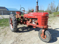 1939 McCormick Farmall H Row Crop Tractor Running Good Paint