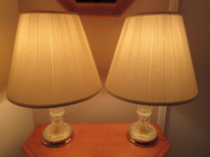 2 Pinwheels Lamps (Tri-Light) with Ivory Shades $110.00/B.O.