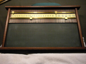 Pool/Snooker Counter/Chalk Board
