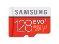 Micro SD Card, Samsung 128GB EVO Plus, SDXC UHS-I, Class 10, New