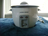 """Rice Cooker and Steamer by """"Black & Decker"""""""