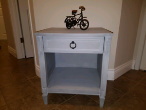 60's Era Refinished Solid Wood Night/End Table