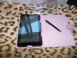 2 brand new iPad/ tablet cases with stylist pens, $15 each