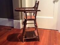 Vintage doll high chair