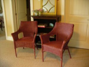 Two Wicker Chairs indoor, outdoor