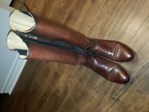 Frye Tall Dark Brown Riding Boots - Size 9.5 Women's