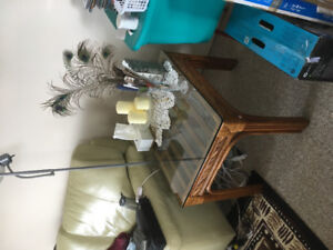 Boca Rattan Glass Top Coffee and End Tables