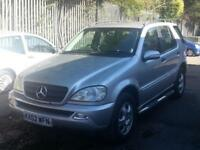 Mercedes-Benz ML270 2.7TD AUTOMATIC CDI 7 SEATER AWD 4WD 4X4 DIESEL 12 MONTHS M