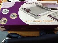 PURPLE COWS 2 in 1 PAPER TRIMMER AND GUILLOTINE