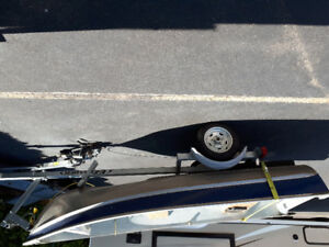 boat trailer and 4hp motor