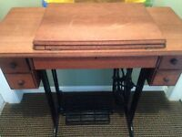 Redone old singer sewing table