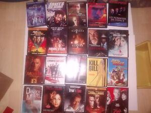 lot de dvd , 35$ le lot