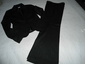 BLACK PINSTRIPE JACKET & SLACKS