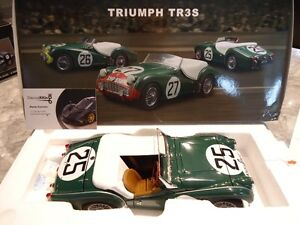 1/18 DIECAST KYOSHO 1959 TRIUMPH TR3S #25 NEW IN BOX