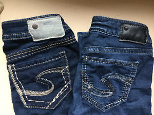 Silver jeans - two pairs
