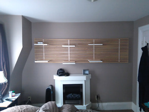 Awesome wall unit adjustable shelves